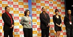 開会式にて:ジャン=フランソワ・ロジェ氏、ジョアヴァンナ・フルヴィさん、崔洋一監督、チェン・シャンチーさん、ロウ・イエ監督