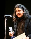 「ストップ!温暖化部門」優秀賞(環境大臣賞)受賞のアルバロ・ムニョズ監督(チリ)