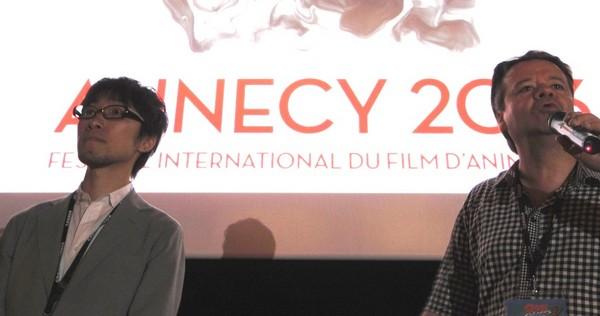 アヌシー国際アニメーション映画祭での吉浦康裕監督(画像左)